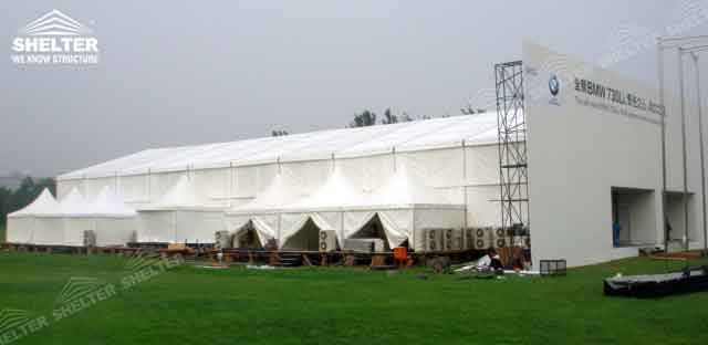 SHELTER Commercial Event Tent - Car Show Hall - Temporary Fair Structures - Promotion Marquee -1