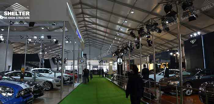SHELTER Commercial Event Tent - Car Show Hall - Temporary Fair Structures - Promotion Marquee -6