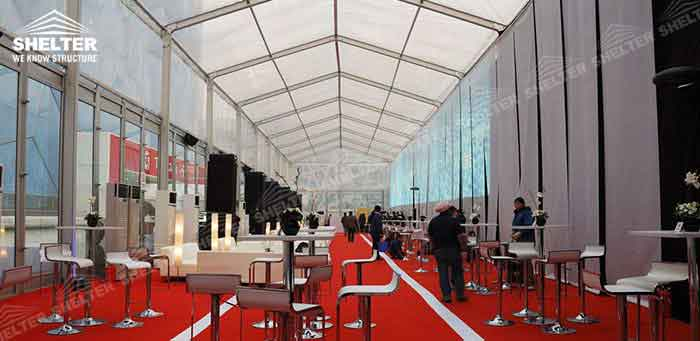 SHELTER Commercial Event Tent - Car Show Hall - Temporary Fair Structures - Promotion Marquee -8