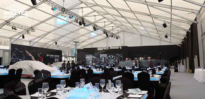 SHELTER Commercial Event Tent - Car Show Hall - Temporary Fair Structures - Promotion Marquee -9