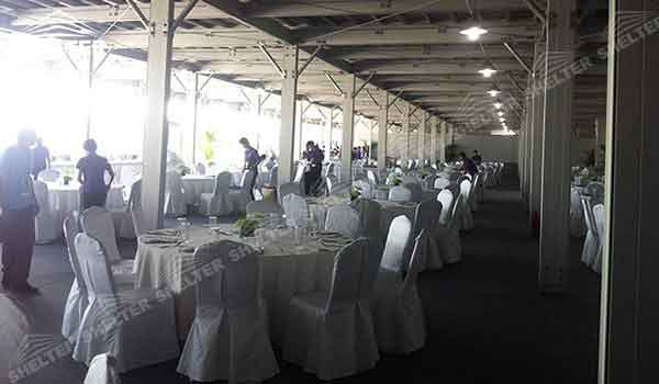 SHELTER Double Decker Structures - Two Story Tent - 2 Story Reception & Catering Hall - Sport Events Lounge - Event Marquees -16