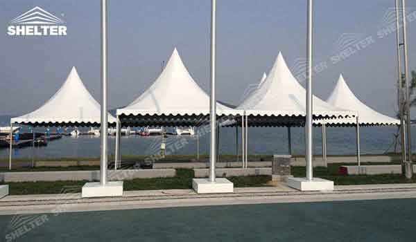 SHELTER small tent Gazebo Tent - High Peak Structures - Reception Canopy Marquee - Catering Hall with Top Roof - Glass Tent for Sale -20