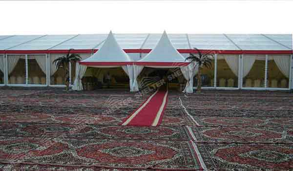 SHELTER Gazebo Tent - High Peak Structures - Reception Canopy Marquee - Catering Hall with Top Roof - Glass Tent for Sale -31