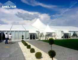SHELTER Mixed Party Tent - Temporary Wedding Hall - Party Marquee with Glass Wall - 1_Jc
