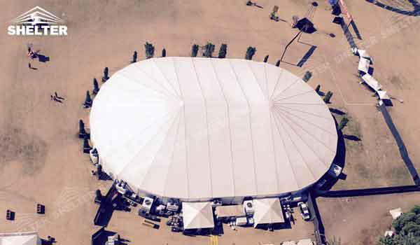 SHELTER sahara tent Oval Structures - Bellend Tent - Music Party Marquee - Luxury Festival Hall -29