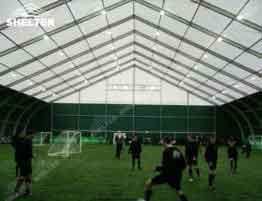 SHELTER Sport Tent - Temporary Tennis Court -  Tension Fabric Structures