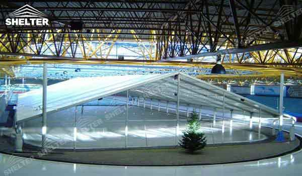 SHELTER tennis court cover Sports Structures - Ice Rinking Canopy - Indoor Skate Venue -3
