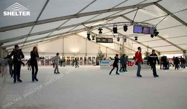 SHELTER tennis court cover Sports Structures - Ice Rink Canopy - Indoor Skate Venue -3