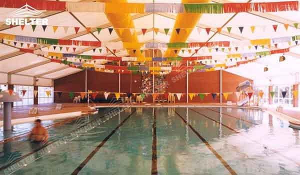 SHELTER Swimming Pool Cover - Sport Structures - Indoor Court Canopy -1