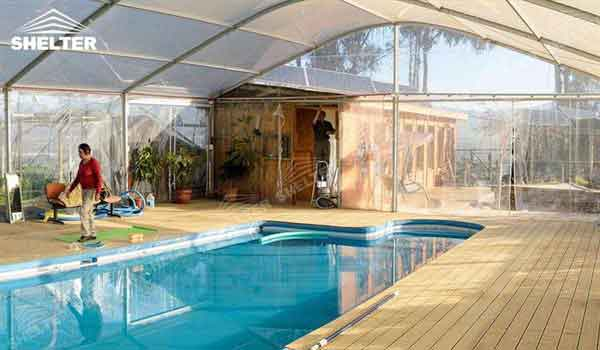SHELTER Swimming Pool Cover - Sport Structures - Indoor Court Canopy -3