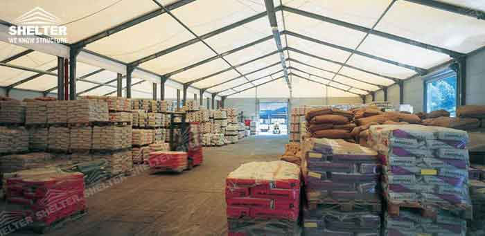 SHELTER Temporary Workshop - 20 _ 30 _ 40 _ 50 _ 60 Meter Warehouse Building for Seasonal Need - Large Storage Structures -2