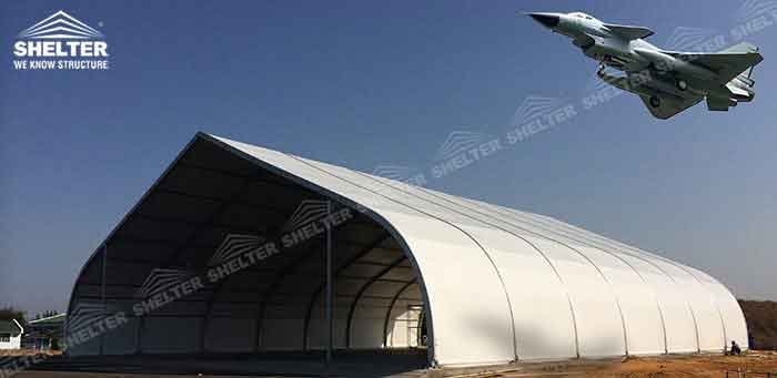 SHELTER Tension Fabric Structures - Aircraft Hangar Building - Temporary Airplan Canopy -1