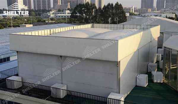 SHELTER Cube Tent Thermo Tent - Inflatable Tents - Commercial Event Marquee - Flat Top Trade Show Marquees for Sale - 20