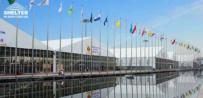 SHELTER Trade Show Tent - Fairs Hall - Clear Span Structures - Commercial Events Marquee -2