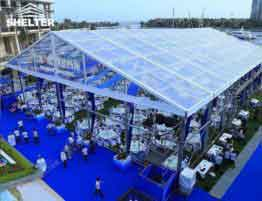 SHELTER Wedding Hall - Luxury Party Tent - Catering Reception Marquee - Clear Top Structures_Jc