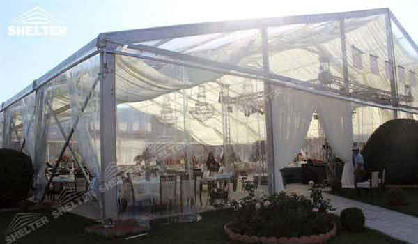 SHELTER clear marquee - Wedding Hall - Party Marquee - Luxury Reception Tent - Outdoor Catering & Clear Marquee Tent | Shelter Wedding Tent