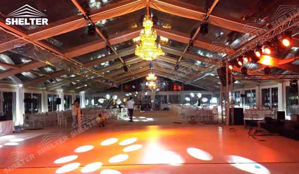 SHELTER Clear Top Tent - Wedding Hall - Party Marquee - Luxury Reception Tent - Outdoor & Clear Top Tent Clear Roof Marquee | Shelter Tent