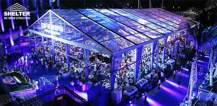 SHELTER Wedding Tent - Transparent Party Marquee - Commercial Events Hall - Reception & Catering Structures -2