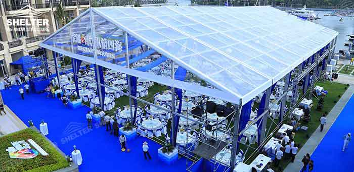SHELTER Wedding Tent - Transparent Party Marquee - Commercial Events Hall - Reception & Catering Structures -4