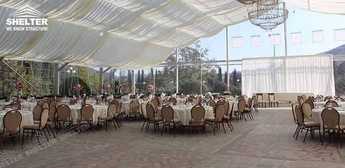 SHELTER Wedding Tent - Transparent Party Marquee - Commercial Events Hall - Reception & Catering Structures -5