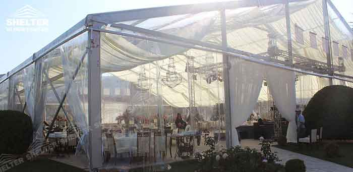 SHELTER Wedding Tent - Transparent Party Marquee - Commercial Events Hall - Reception & Catering Structures -6