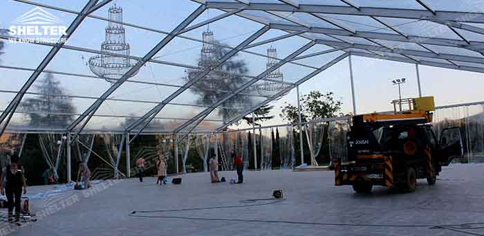 SHELTER Wedding Tent - Transparent Party Marquee - Commercial Events Hall - Reception & Catering Structures -7