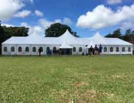Shelter Mixed Party Tent - High Peak Wedding Marquee - Multi-peak Structures with French Windows