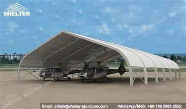 30 x 30 (100' x 100') Open-air Airplane Parking Canopy