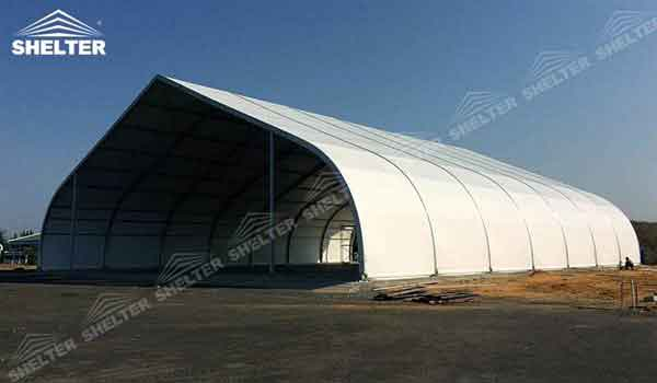 helicopter hangar tent for sale- aircraft hangar structures - private jet hangar structure - Shelter airplane hangar tents for sale (1)