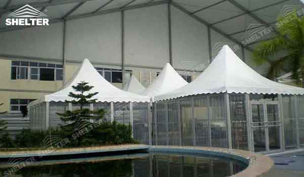 SHELTER Small Tent For Sale Pagoda Tent - Top Marquee - Chinese Hat Tents - Pinnacle Marquees -23