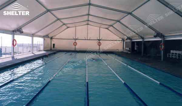 Clear Span Tent Swimming Pool Cover For