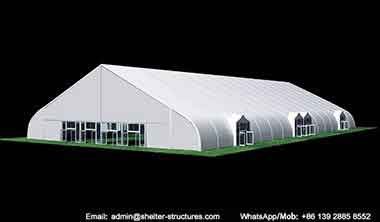 40 x 90m (130' x 295') Tension Fabric Structures with Glass Door