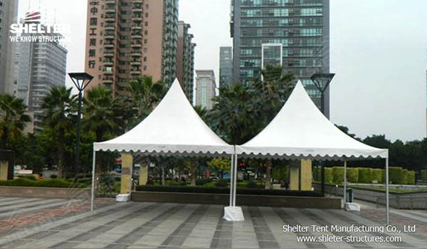 SHELTER Car Parking Shed Gazebo Tent - High Peak Structures - Reception Canopy Marquee - Catering Hall with Top Roof - Glass Tent for Sale -15