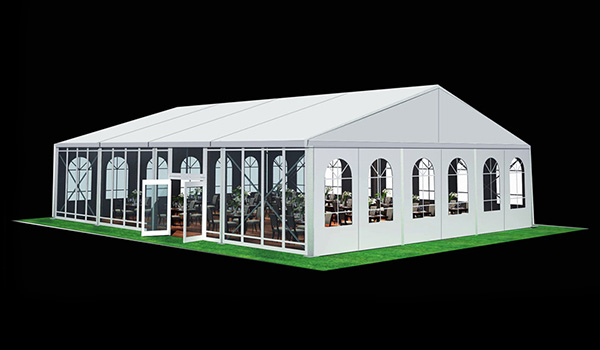 SHELTER Wedding Hall - Luxury Party Tent with Glass Window - Reception Catering Tent - M Series-15x20m