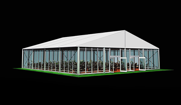 SHELTER Wedding Hall - Luxury Party Tent with Glass Window - Reception Catering Tent - M Series-20x20m