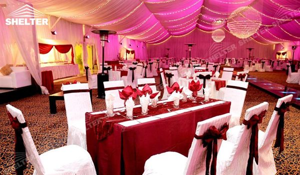 SHELTER Clear Tent Wedding Hall - Party Marquee - Luxury Reception Tent - Outdoor Catering Venue & Large Clear Tent - Transparent Tent - Clear Party Marquee