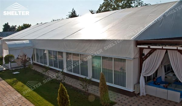 SHELTER 10x30 White Party Tent - Wedding Hall - Party Marquee - Luxury Reception Tent - Outdoor Catering Venue -64