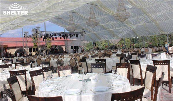 SHELTER Banquet Tents - Wedding Hall - Party Marquee - Luxury Reception Tent - Outdoor Catering Venue -200