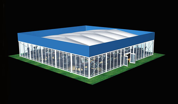 SHELTER Heat Resistance Roof Tent - Commercial Event Marquees - Wedding Hall - Sporting Structures - Temporary Warehouse Building - Thermo Roof-25x25m