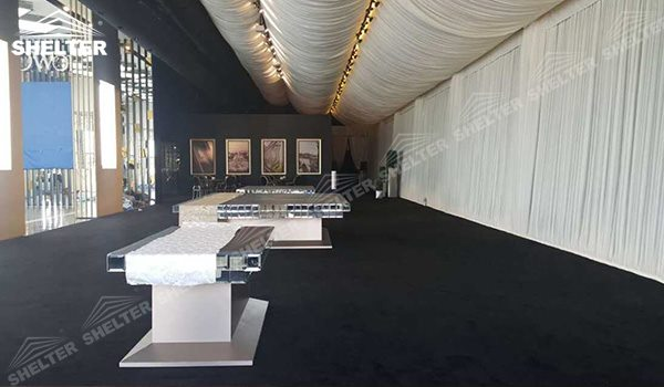 SHELTER Event Gazebo Tent - Commercial Marquees - Reception Hall - Temporary Lounge Tent -75