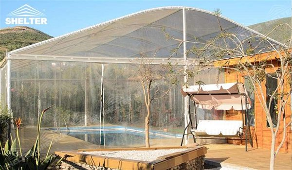 Backyard Swimming Pool Cover in Chile & Clear Span tent Made for Swimming Pool Cover- Swimming Tent