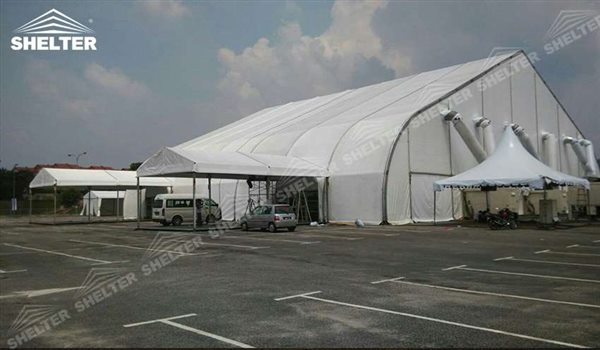 event marquee helicopter hangar tent - aircraft hangar structures - private jet hangar structure - Shelter airplane hangar tents for sale (115564)