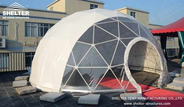 SHELTER Geodesic Domes - Dome Tent - Hemisphere Tents - Event Geodome for Sale - Wedding & Dome Tent - Dia. 10m Spherical Tents Sale in US - Shelter Structures