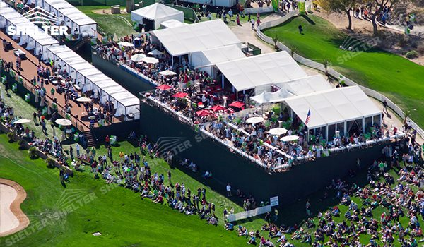 SHELTER Golf Lounge Tent - Sporting Events Marquee- Temporary Lounge Hall -2