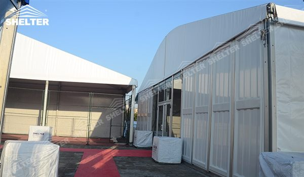 SHELTER temporary warehouse space arch tent - arcum tents - large event marquee - wedding marquees for sale - 21