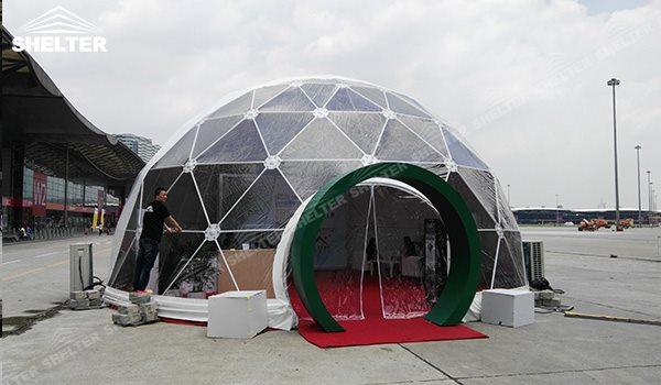 SHELTER Dia. 10 Meter Geodesic Dome Tent - Domes Tent - Hemisphere Tents - Event Geodome for Sale - Wedding Marquee - Party Marquees -178