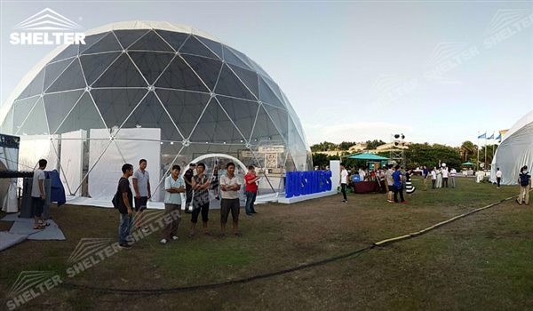 SHELTER Geodesic Tents Domes - Dome Structures - Hemisphere Tents - Event Geodome for Sale - Wedding Marquee - Party Marquees -17