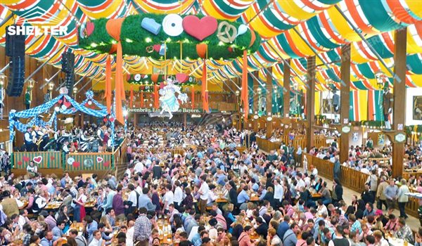 large beer hall for beer festival tent german beer fest Shelter Event party tent with lining (1)