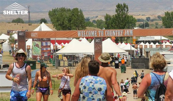 Festival Tent In Country Jam 2016 Colorado Shelter Structures