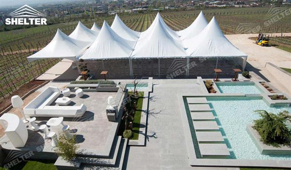 SHELTER Gazebo Tent - High Peak Structures - Reception Canopy Marquee - Catering Hall with Top Roof - Glass Tent for Sale -23